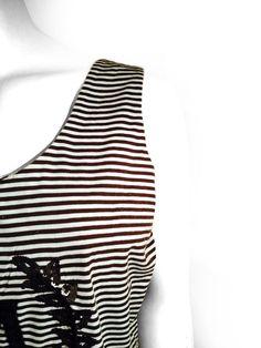 Maxmara Women Striped Blouse / Sequin Logo _ Size: XL #Maxmara #Blouse #Casual