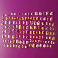128PCs Different Nails 28 Sizes Smiling face Candy Cute Carton false nails * Read more reviews of the product by visiting the link on the image.