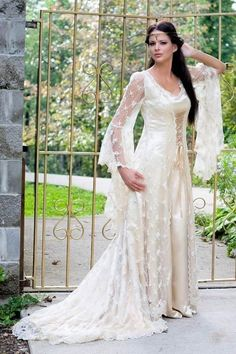 Medieval type wedding dresses