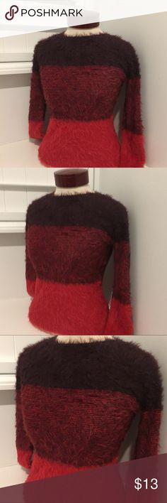 "H&M KIDS GIRLS FUZZY SWEATER Gently used THIS IS A KIDS L - XL  THIS WOULD FIT A WOMENS SMALL, HAS A GREAT STRETCH  100% POLYAMIDE  19"" ARMPIT TO ARMPIT  23"" LENGTH  I#424429001996 H&M Shirts & Tops Sweaters"