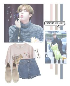 """Kim Seokjin"" by lazy-alien ❤ liked on Polyvore featuring H&M, bts, jin and KimSeokJin"