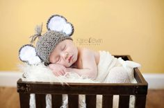 Newborn Baby Elephant Hat Crochet Photo by PerfectlySweetItems, $20.00