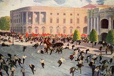 A demonstration in Petrograd is broken up in July 1917 Russian Revolution, The Spectator, Social Change, Civilization, Opera House, Street View, War, City, Travel