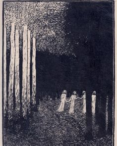 František Kobliha, 1909 #františekkobliha#woodcut#printart Gravure, Printmaking, Surrealism, Illustrators, Illusions, Abstract, Modern, Artwork, Painting
