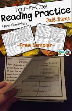 Free sample of Four-In-One Reading Comprehension Practice!