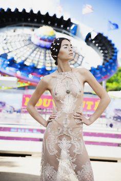 Blossom funfair Photographer: Frédéric Monceau Model: Sonny @Up Models MUAH: Sandie Rolland Stylism: Crystal Deroche DA: Madi Derivery, Aliénor Fontaine Dress: Melany Rowe