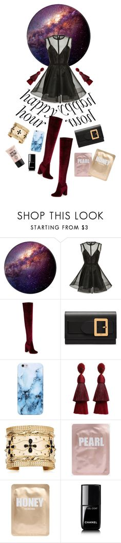 """Miss Universe #happyhour"" by tharwawajihahzainal ❤ liked on Polyvore featuring Alex Perry, Jeffrey Campbell, Bally, Oscar de la Renta, Aurélie Bidermann, Lapcos, Chanel, NYX and happyhour"