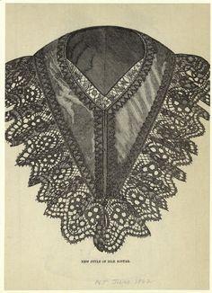 The New Style of Silk Sontag. Peterson's Magazine, June 1862. NYPL Digital Gallery.  Civil War Era Fashion Plate