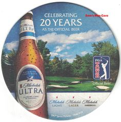 Beer Coasters, Light Beer, Close Image, 20 Years, Tours, Drinks, Bottle, Glass, Drinking