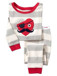 These #pajamas Are So Adorable! Striped Pirate Sleep Set | Gap $24.95