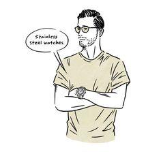 地味なTシャツ姿が、お洒落に見える5つの小ワザ | メンズファッション | LEON.JP Simple Illustration, Portrait Illustration, Simple Character, Character Design, Human Sketch, Bike Sketch, Paris Art, Word Pictures, Doodle Drawings