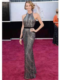 Stacy Keibler in Naeem Khan   Oscars 2013