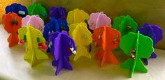 colgadores de pendientes de goma eva