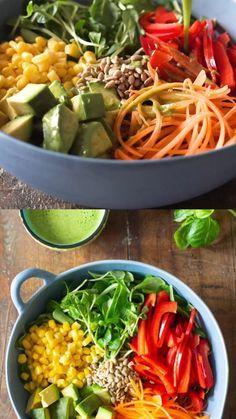 Best Salad Recipes, Easy Healthy Recipes, Whole Food Recipes, Keto Recipes, Healthy Snacks, Vegetarian Recipes, Healthy Eating, Cooking Recipes, Lunch Salad Recipes