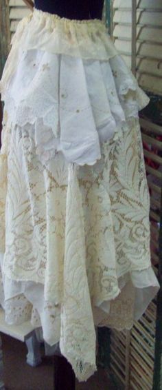 gypsy lace skirt    www.victoriantailor.com
