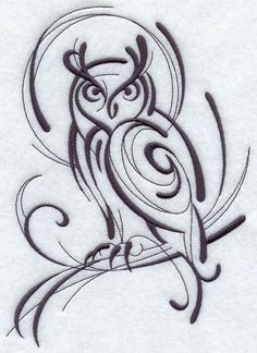 Inky Owl design (F7902) from www.Emblibrary.com