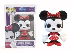 Product Info Mickey's love interest, Minnie Mouse is looking cute and pretty in her new red and white polka-dots in this Pop! Vinyl Figure. Bring Minnie Mouse home today! Product Features - » Disney's