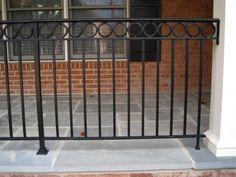 images of front porch steps designs Porch Railing Designs, Back Porch Designs, Front Porch Railings, Front Porch Steps, Metal Railings, Deck Railings, Railing Ideas, Exterior Handrail, Garden Railings