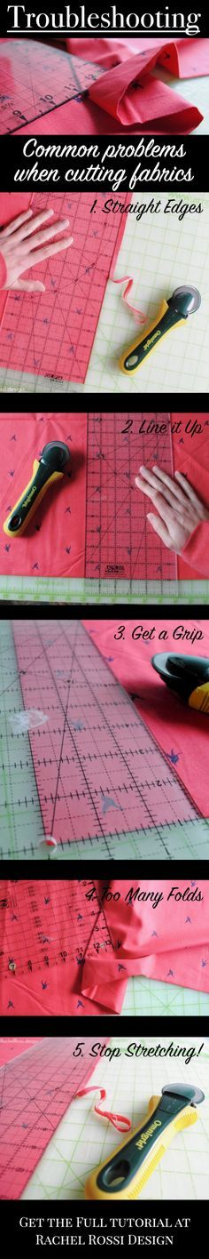 Troubleshooting   Cutting Fabric   Stop cutting crooked and curved pieces for your quilts—get the full troubleshooting guide here!