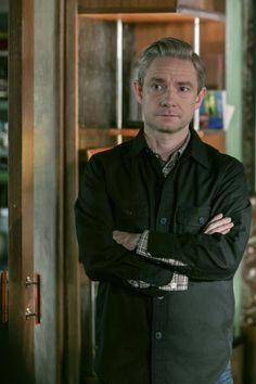 SHERLOCK (BBC) ~ Martin Freeman. S4 promo photo.