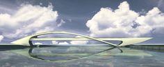Торгово-пешеходный мост через Москва-реку, район Марьино-Братеево