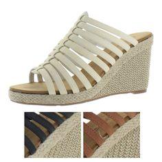 4564eca4710c Bearpaw Flora Women s Wedge Strappy Espadrille Sandals