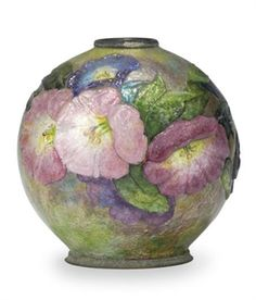 A FRENCH ENAMELED VASE~BY CAMILLE FAURE EARLY 20TH CENTURY