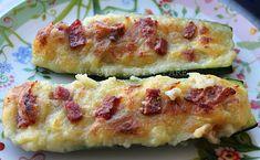 #Secondo piatto di #zucchine ripiene con patate e salamino