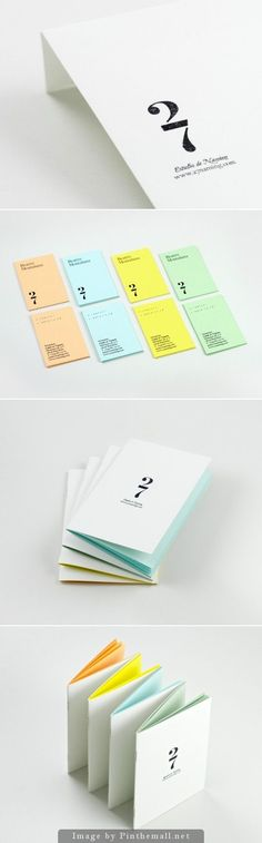 I love how each set of #business #cards is a different color, but they all clearly belong to a set. Business card or stationary suite ideas.