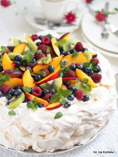 Best Cookie Recipes, Sweet Recipes, Polish Cookies, Whipped Frosting, My Pie, Pavlova, Tasty Dishes, Easy Meals, Food And Drink