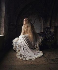 "WEBSTA @ nonalimmen - ""Trapped once again by the bright morning sunrise."" {model: @skyevaruna • dress: @somniaromantica}"