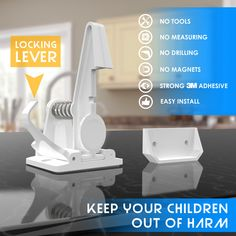🔹CHILDPROOF CABINETS AND DRAWERS MORE CONVENIENT THAN EVER - The LoxyHome cabinet and drawer locks are built with the highest quality standards you should expect and are designed to be INSTALLED WITH NO TOOLS OR HARDWARE NEEDED meaning that you can childproof your cabinets and drawers without drilling and damaging them. 🔹UPGRADED WITH EXTRA HOLDING LEVER - Our newly designed latch system includes an easy access lever that can HOLD THE LOCK TO ITS OPEN POSITION so when you don't need your… Easy Install, Easy Access, Childproofing, Child Safety, Your Child, Locks, Drill, Cabinets