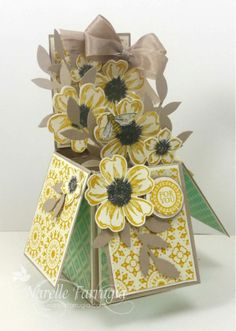 May 24, 2014 Stamplicious: Card In a Box Flower Shop, Nature Walk, Afternoon Picnic dsp, Tea for Two