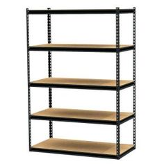 Gorilla Rack 5-Shelf 48 in. x 24 in. x 72 in. Freestanding Storage Unit-GRZ6-4824-5PCB at The Home Depot $76