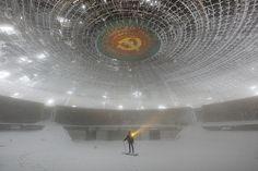 Abandoned Soviet building in Bulgaria