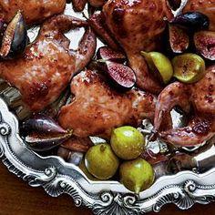 Fig-and-Balsamic-Glazed Quail Recipe | MyRecipes.com