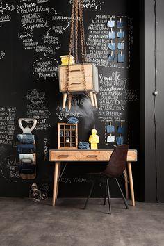 4331c7bfdec Bureau en bois X Factory 3 tiroirs 120x60cm Kare Design