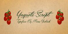 Yaquote Script - Webfont & Desktop font « MyFonts