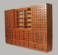 Large apothecary's cabinet, c. 1920