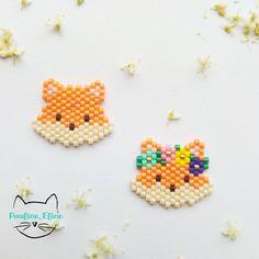 Et voilà mon petit couple de renards, Ralph et Édith ! Fox Power! #jenfiledesperlesetjassume #miyukibeads #miyuki #perleaddict #perle #beadwork #fox #renard #fleur #flowers #brickstitch #woodland #motifpauline_eline