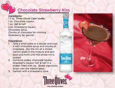 Chocolate Strawberry Kiss - Three Olives Vodka
