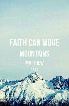"""""""Je vous le dis en vérité, si vous aviez de la foi comme un grain de sénevé, vous diriez à cette montagne: Transporte-toi d'ici là, et elle se transporterait; rien ne vous serait impossible."""" (Matthieu 17:20)"""