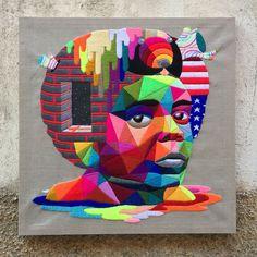 עבודותיו הגאומטריות, עזות-הצבע של אוקודה סן מיגל, אמן רחוב החי ופועל במדריד, מעטרות תחנות רכבת, מפעלים נטושים, רחובות ובתים ומוצגות גם בגלריות בעולם.