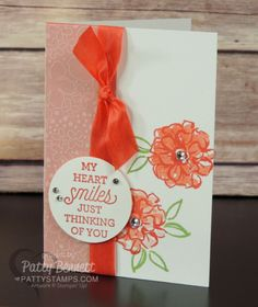 What I Love - 3 step flower stamp cards | Patty's Stamping Spot | Bloglovin'