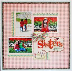 Love the gingham print. Looks great with flower/park photos.