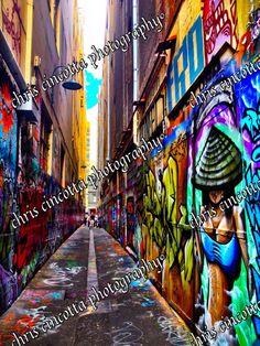 MELBOURNE STREET ART  Union Lane by TheTravelJourno on Etsy