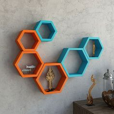 Image result for hexagon wall decor