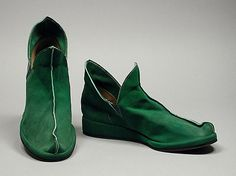 Cute and very comfortable looking suede 'pixie' boots, Cal-Art, 1948.