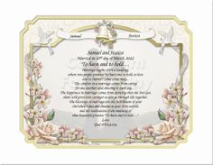 Wedding Gifts Keepsakes and Remembrances   by CreationsByFrannie, $24.95