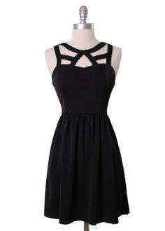 Cage Neckline Dress